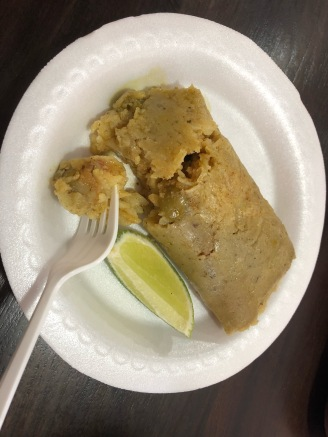 Honduras tamales (dough made of corn)