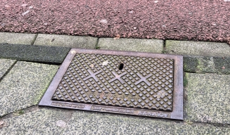Sewer system plates in the streets