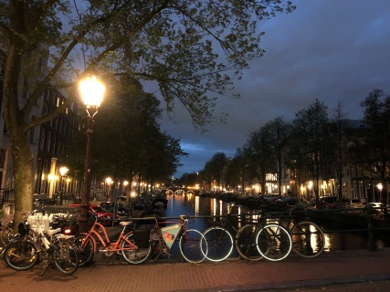 Canals at night