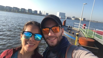 Heading Amsterdam Noord in the free ferry!