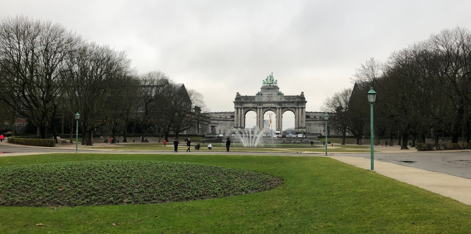 Front view of the Cinquantenaire