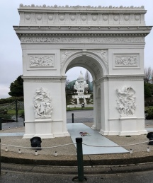 View of the Sacré-Cœur through The Arc de Triomphe, Paris: Perspective.