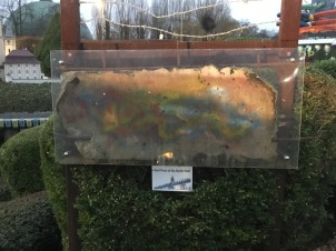 Real piece of the Berlin Wall.