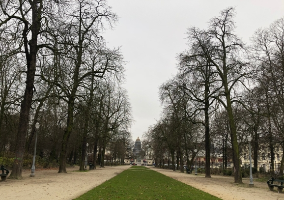 View of the Palais de Justice from the Parc de Brussels.