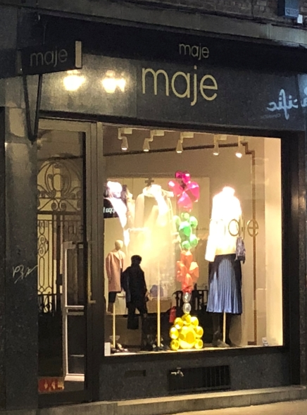 """Its a women clothing store, it made clic with me because """"maje"""" is an informal way of calling a friend in Honduras, kind of like """"dude"""" in the USA, not to be used in a formal context, it might be considered offensive."""