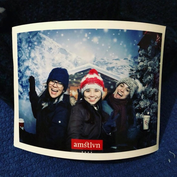 Courtesy winter photo booth!