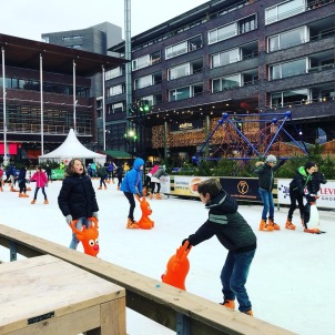 Ice rink in the Xmas village!