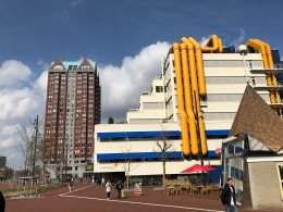 Bibliotheek Rotterdam (building with yellow and blue details)