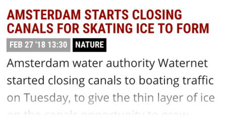 Closing canals!