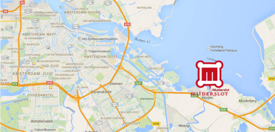 16km from Amsterdam Centraal Station