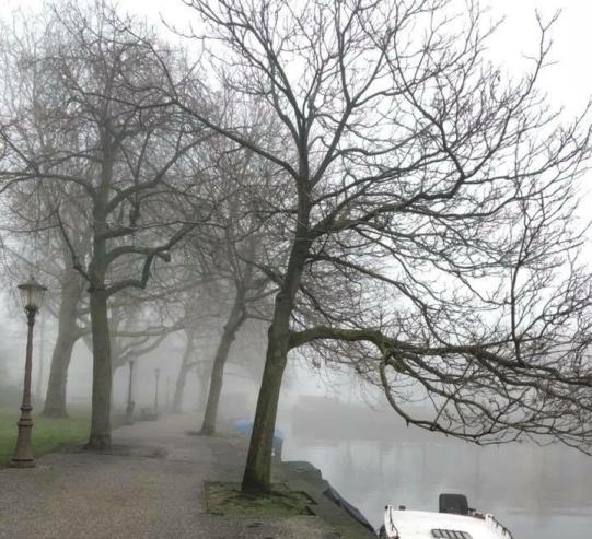 A foggy day in Amsterdam
