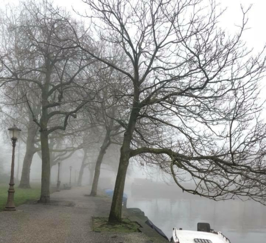 A foggy day in Amsterdam