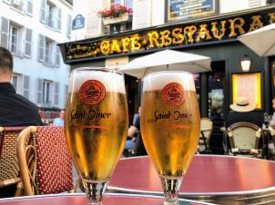 Local beer from a restaurant in Montmartre.
