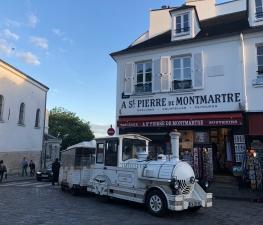Le Petit Train de Montmartre, you can book it online for a guided tour.