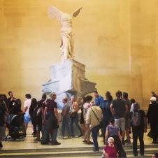 The Winged Victory of Samothrace. From the years 200–190 BC. This statue, along with some other priceless pieces, went into hiding during World War II.