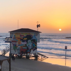 Sunset in the beach - Tel Aviv